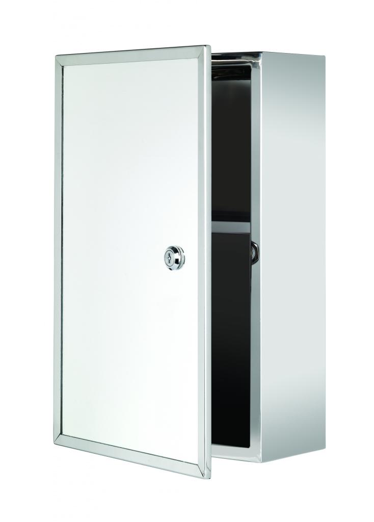 Croydex Trent Stainless Steel Medicine Cabinet Lockable