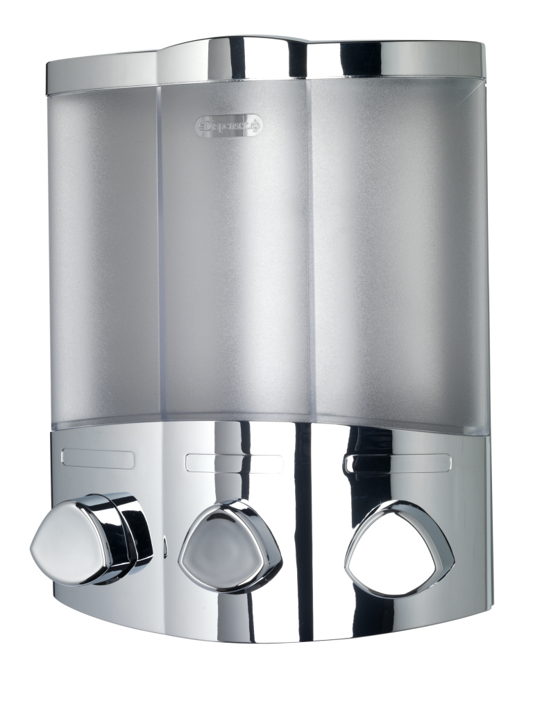 Croydex Euro Dispenser Trio Chrome