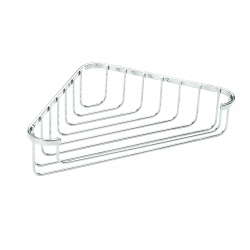 Croydex Stainless Steel Flat Bar Corner Basket