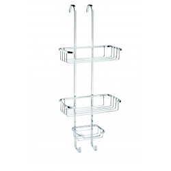 Croydex Stainless Steel Over Hook 3 Tier Basket