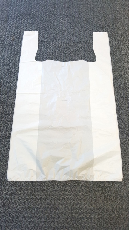Tidyz Plain Vest Carrier Bags - White - Roll of 100