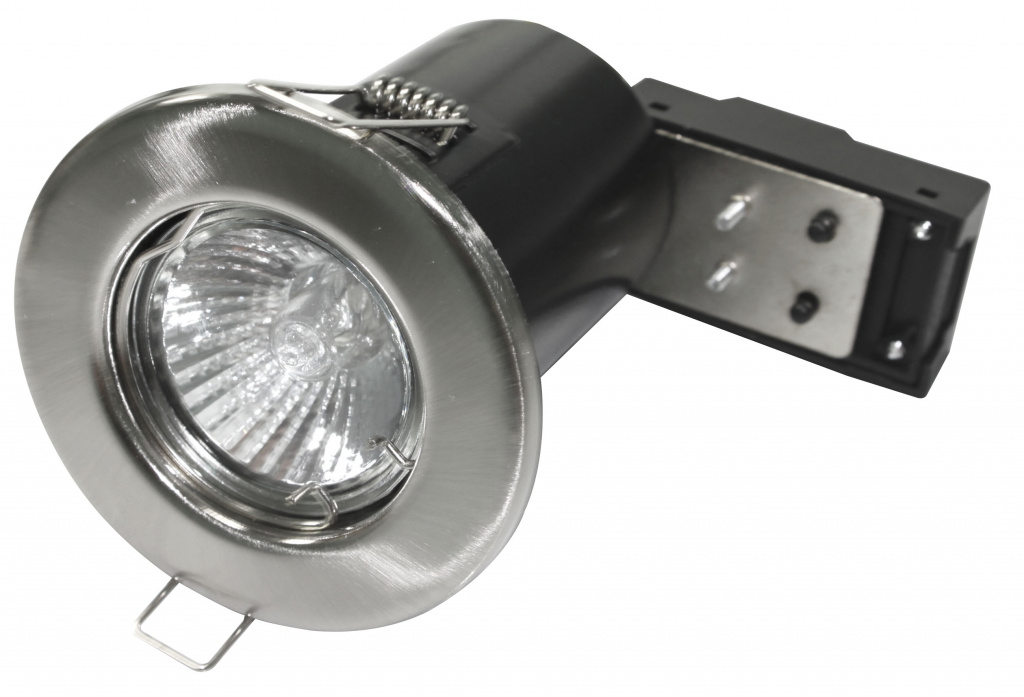 Powermaster Fixed Fire Rated Downlight - Brushed Chrome