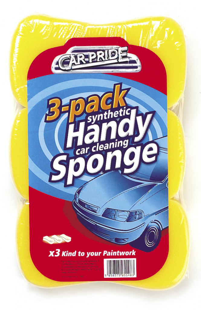 Car Pride Handy Car Sponges - Pack 3