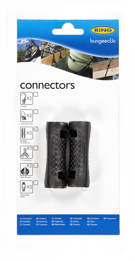 Ring Bungee Clic Straight Connectors - Twin Pack