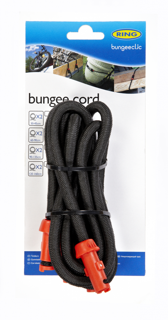 Ring Bungee Clic Cords Twin Pack - 90cm
