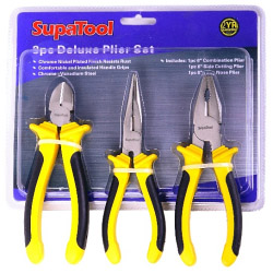 SupaTool Deluxe Plier Set - 3 Piece