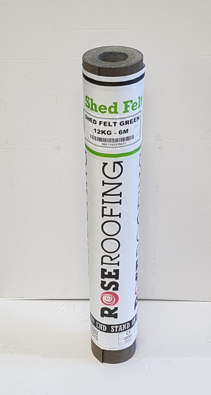 Rose Roofing 12kg Shed Felt Green - 6m