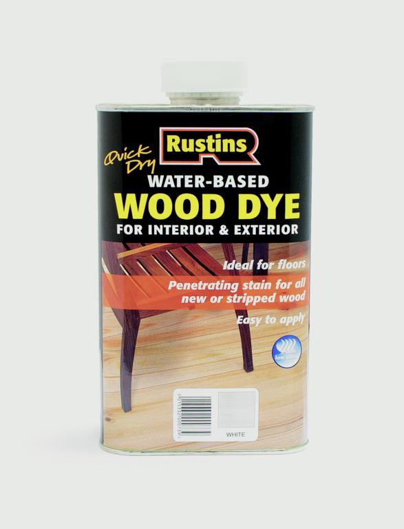 Rustins Wood Dye - White 250ml