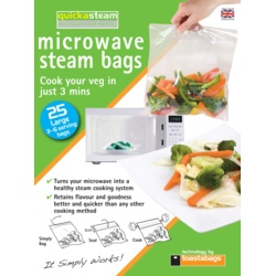 Planit Quickasteam Microwave Steam Bags
