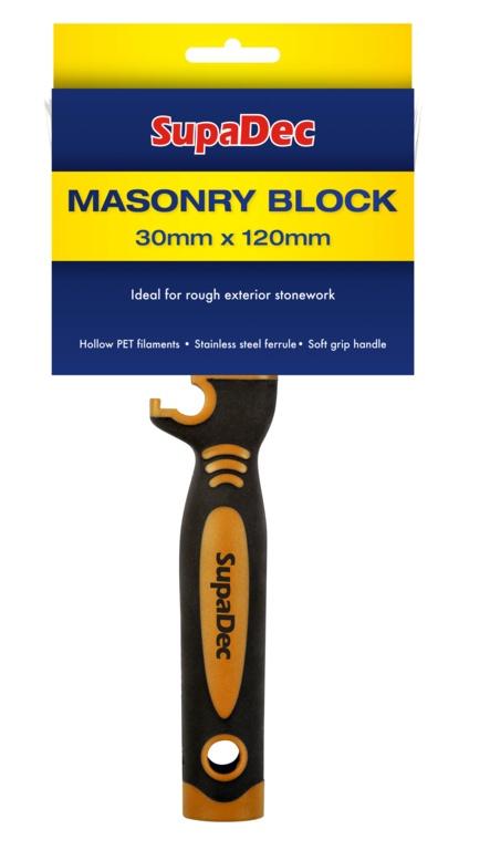 SupaDec Masonry Block Brush - 30mm x 120mm