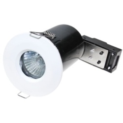 Powermaster IP65 Fire Rated Fixed Downlight - White