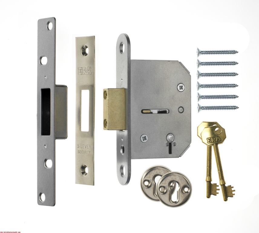Era Fortress 5 Lever Mortice Sashlock - Brass Boxed 2.5""