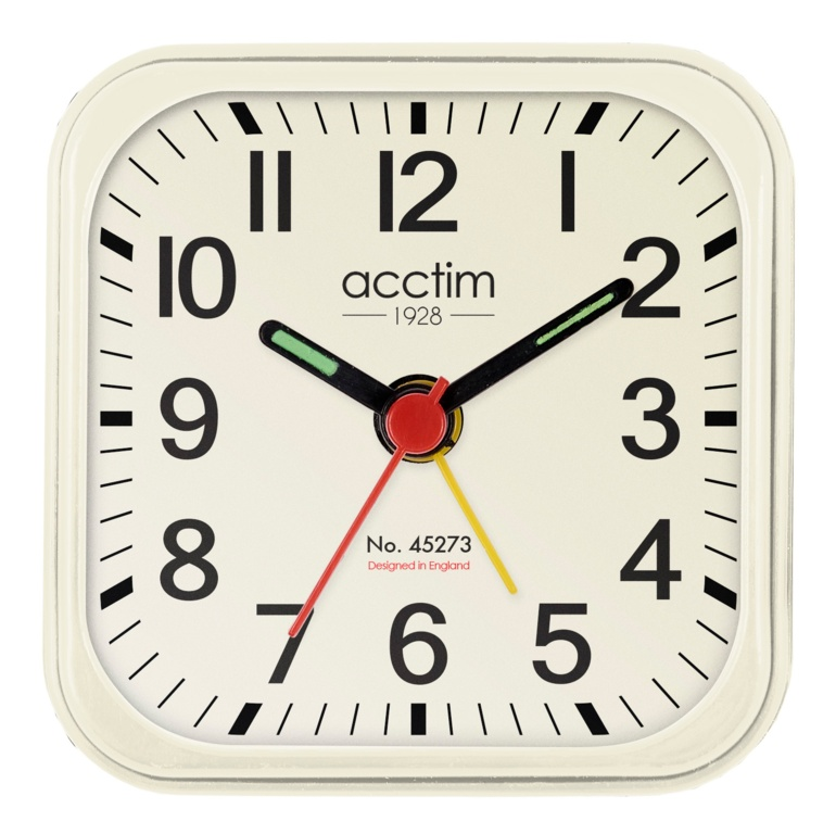 Acctim Maldon Alarm Clock - White