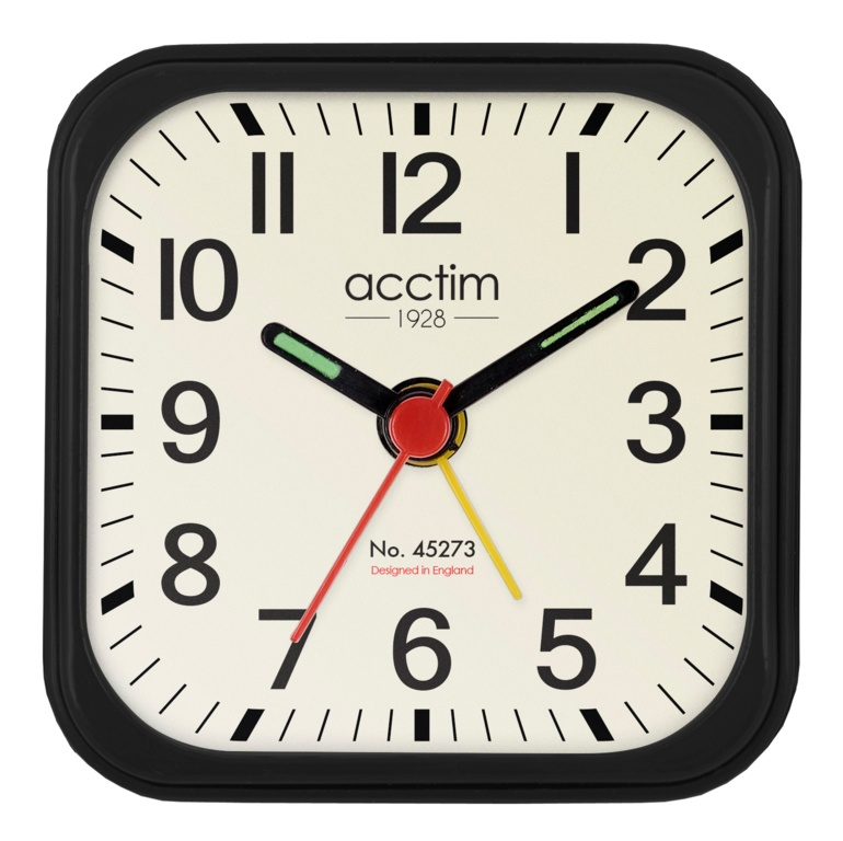 Acctim Maldon Alarm Clock - Black