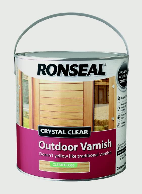 Ronseal Crystal Clear Outdoor Varnish 2.5L - Matt