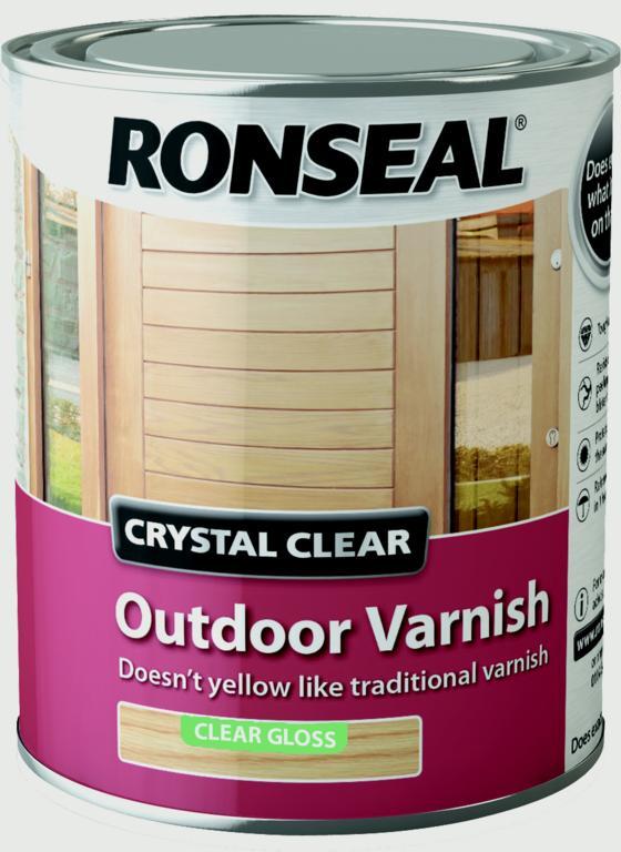 Ronseal Crystal Clear Outdoor Varnish 750ml - Matt