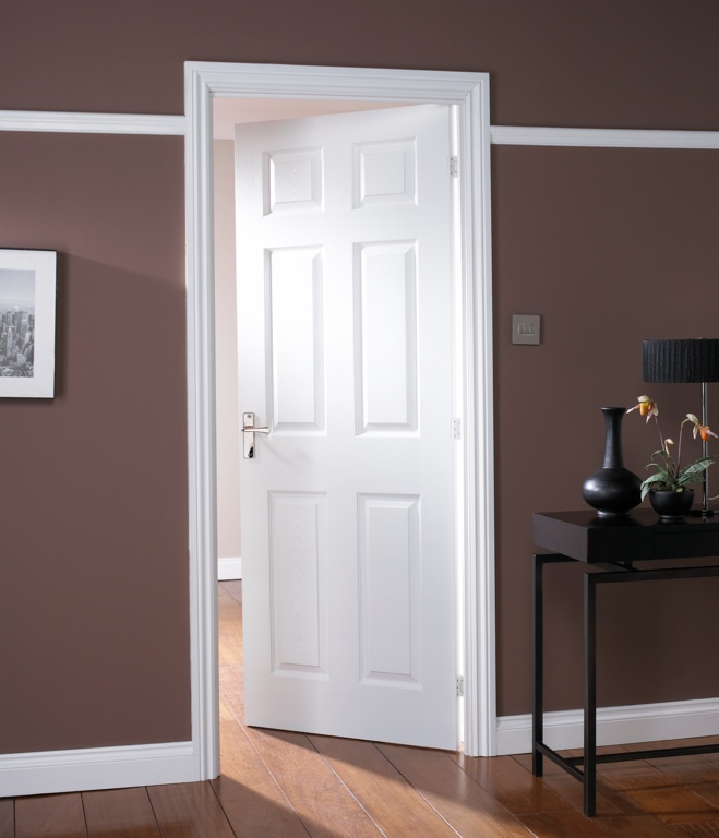 Jeld Wen Six Panel Graind Moulded Fire Door - 33
