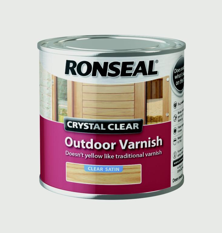 Ronseal Crystal Clear Outdoor Varnish 250ml - Satin