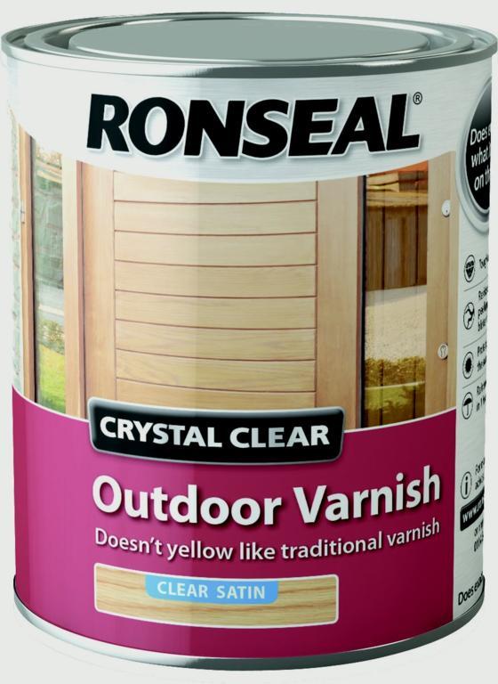 Ronseal Crystal Clear Outdoor Varnish 750ml - Satin