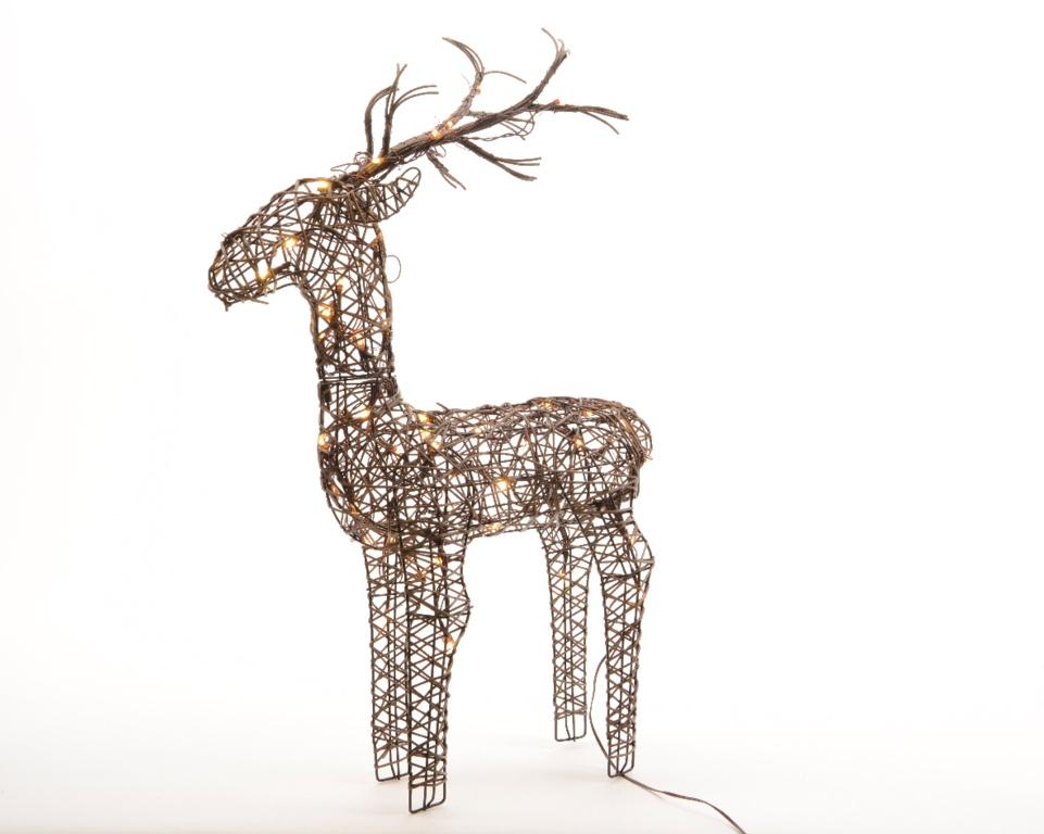Kaemingk Outdoor LED Wicker Deer - 135cm Warm White