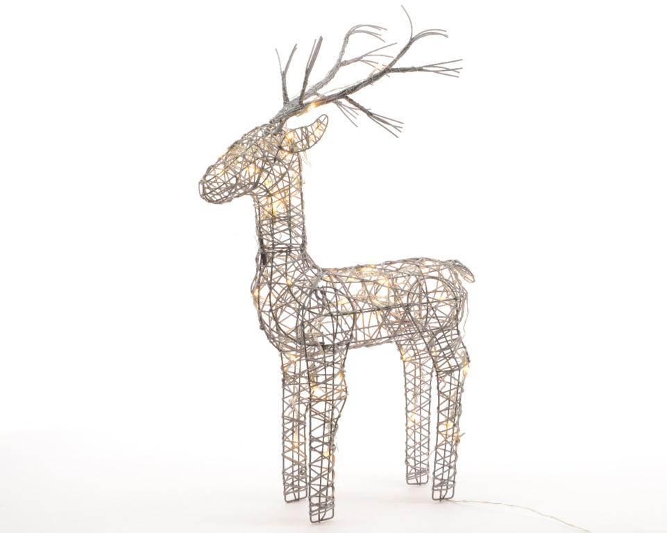 Kaemingk LED Outdoor Wicker Deer - 60cm Warm White