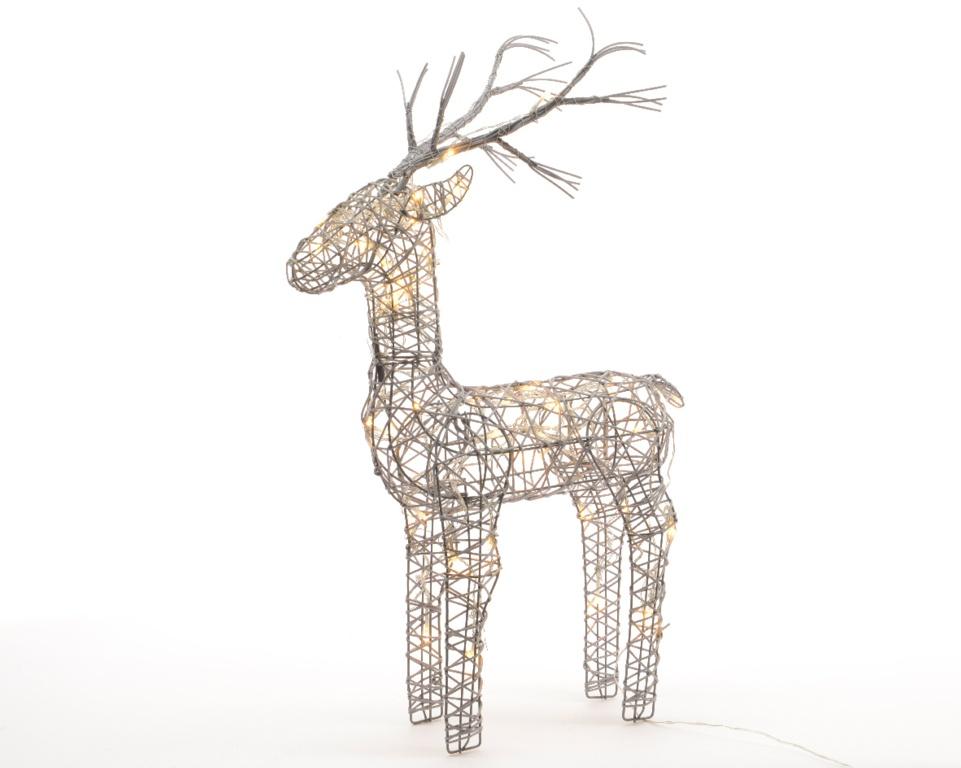 Kaemingk LED Outdoor Wicker Deer - 83cm Warm White