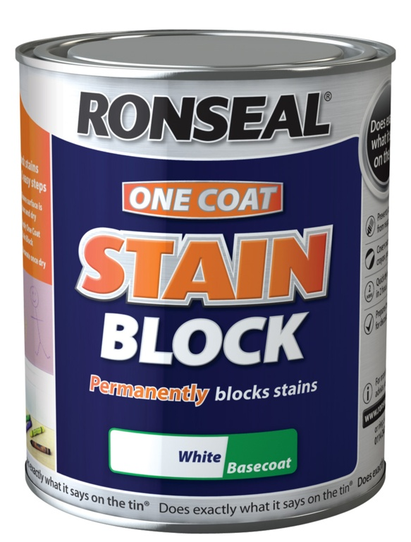 Ronseal One Coat Stain Block - 2.5L White