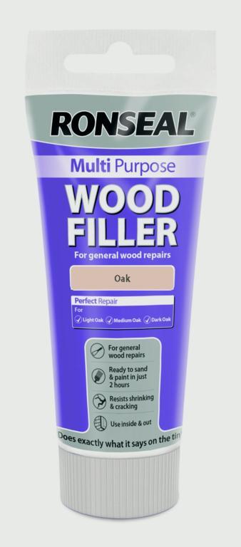 Ronseal Multi Purpose Wood Filler Cartridge 310ml - Oak