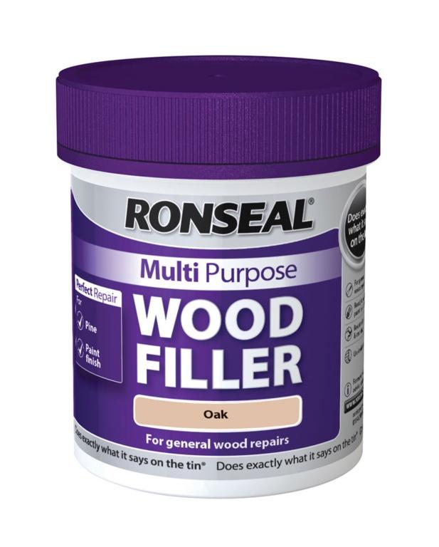 Ronseal Multi Purpose Wood Filler 250g - Oak