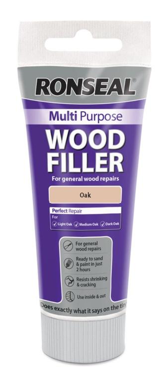 Ronseal Multi Purpose Wood Filler 100g - Oak