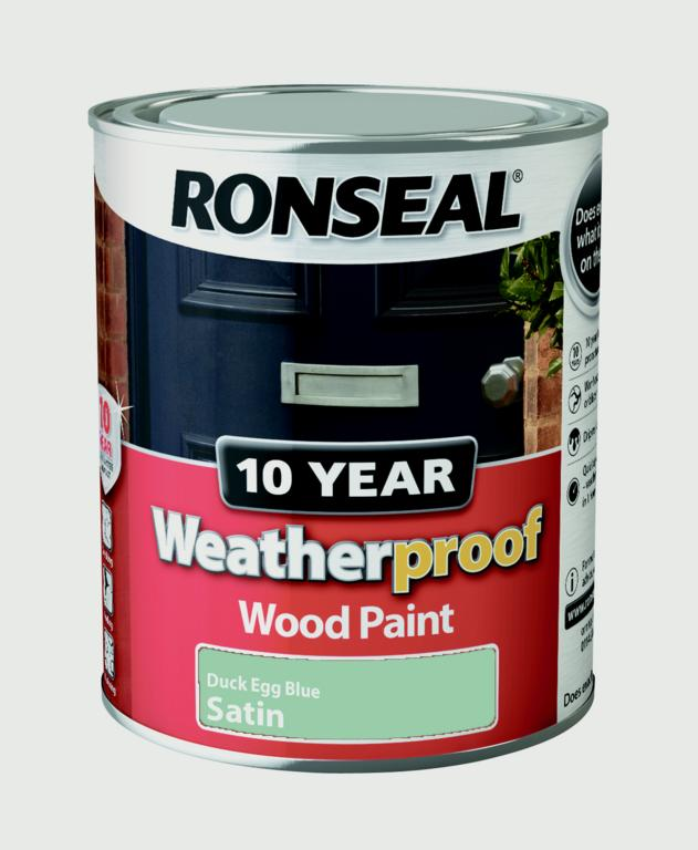 Ronseal 10 year weatherproof wood paint satin 750ml stax Ronseal 10 year exterior wood paint