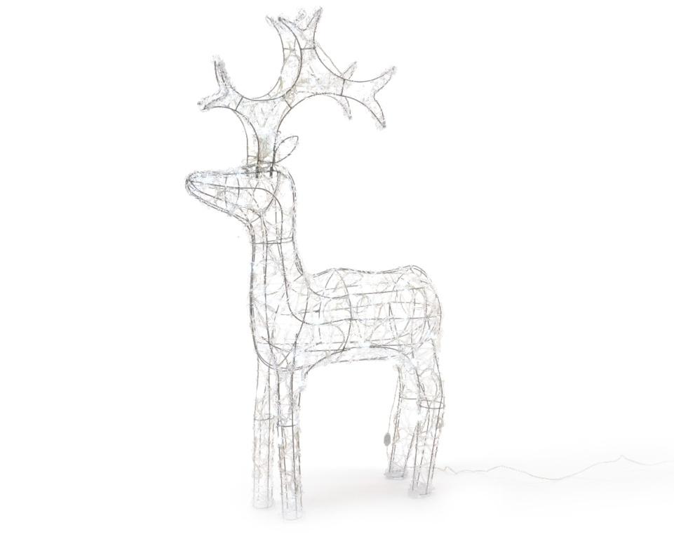 Kaemingk Outdoor LED Acrylic Deer - 60cm Cool White