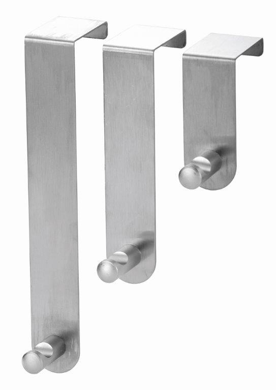 Blue Canyon Stainless Steel Over Door Hooks - Set 3