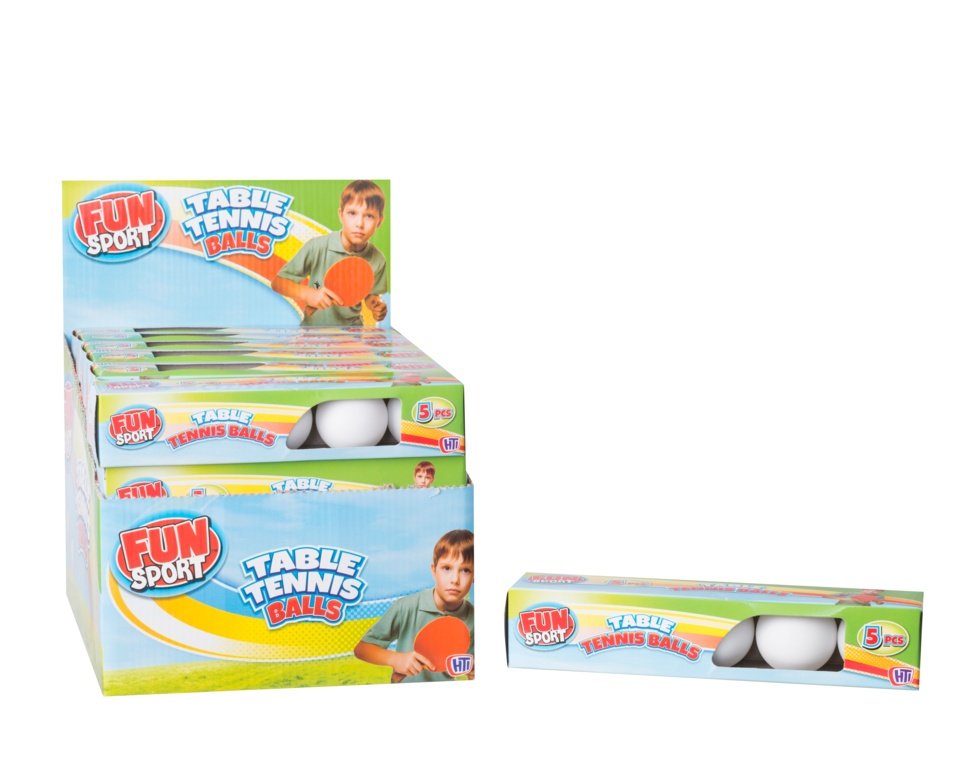 Fun Sport Table Tennis Balls - Pack 5
