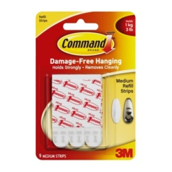 Command Mounting Strips - Pack 9 Medium
