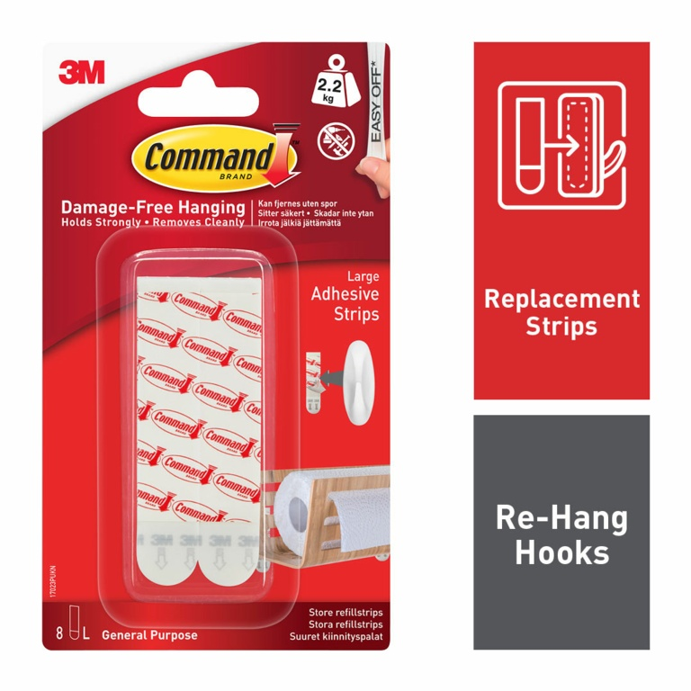 Command Mounting Strips - 6 Large