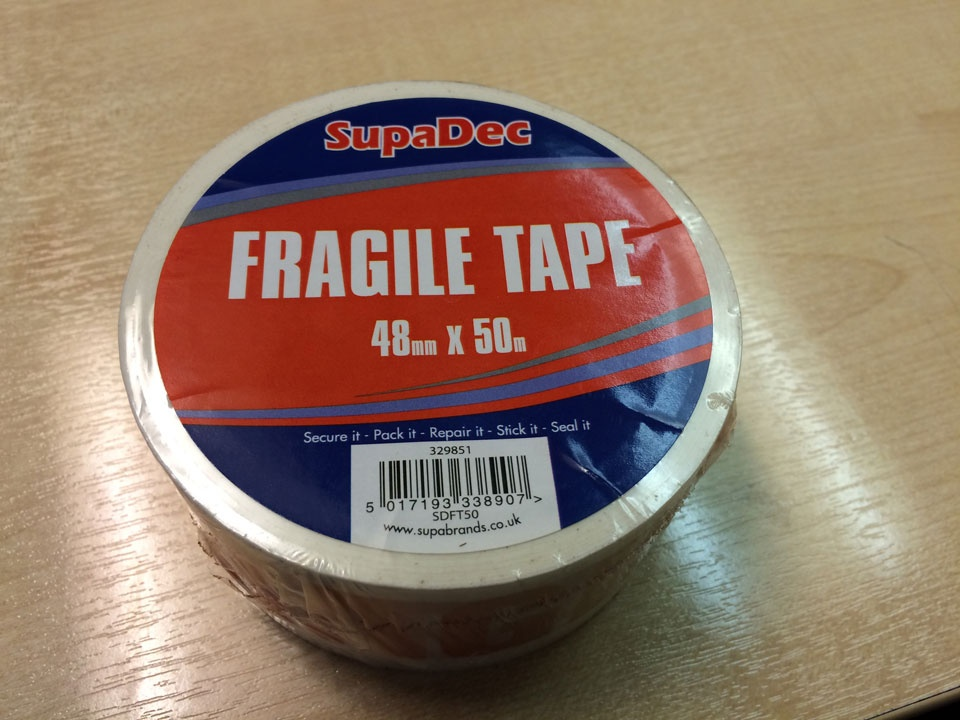 SupaDec Fragile Tape - 48mm x 50m