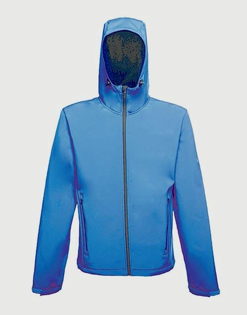 Regatta Mens Hooded Softshell Navy/Royal Blue Jacket - Medium