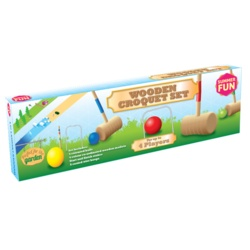Summer Fun Wooden Croquet Set