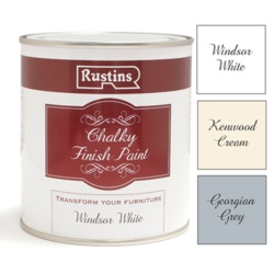 Rustins Chalky Finish 500ml - Georgian Grey