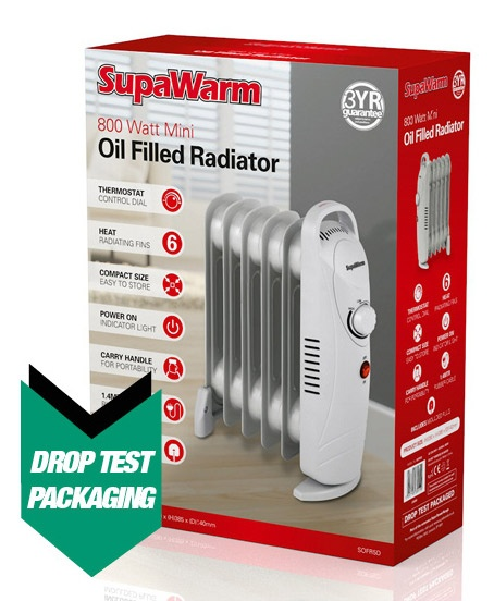 SupaWarm Mini Oil Filled Radiator - 800w