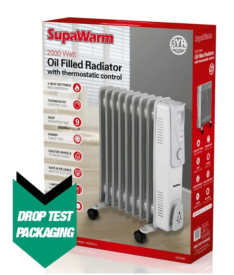 SupaWarm Oil Filled Radiator - 2000w