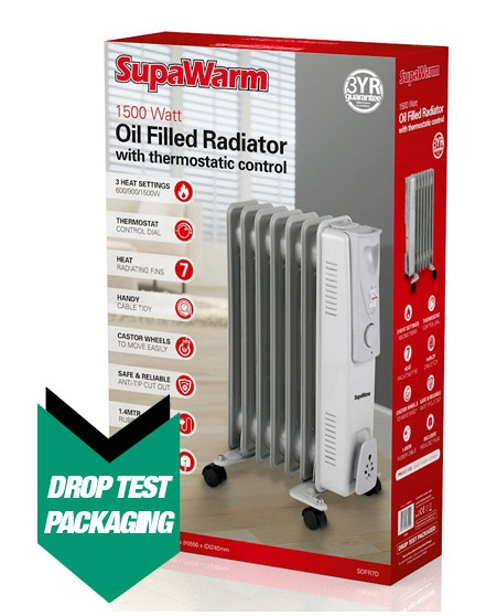 SupaWarm Oil Filled Radiator - 1500w