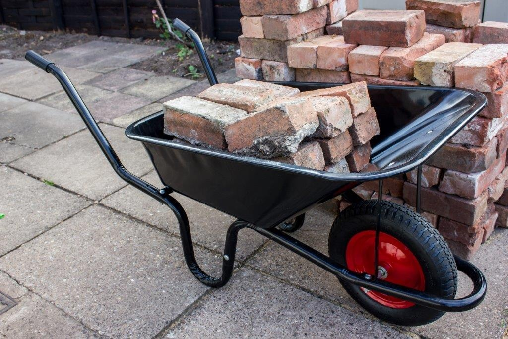 Ambassador Boxed Black Builders Wheelbarrow - 90L