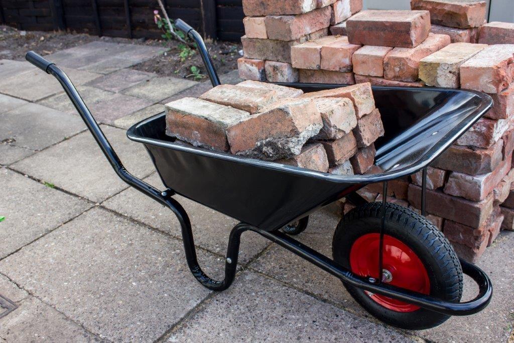 Ambassador Boxed Black Builders Wheelbarrow - 90L