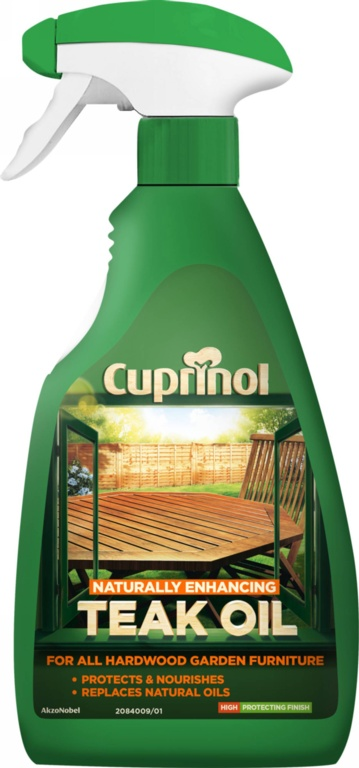 Cuprinol Natural Enhancing Teak Oil Spray Clear - 500ml