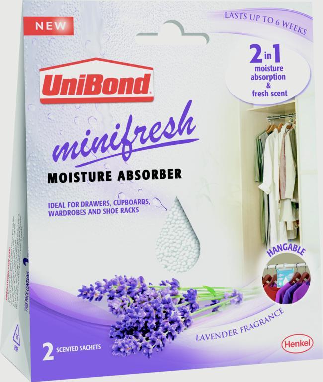 UniBond Minifresh Moisture Absorber - 2 x 50g Sachets