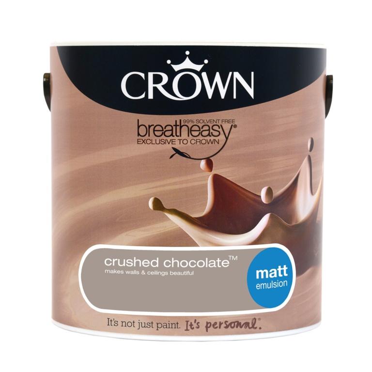 Crown Matt Emulsion 2.5L - Crushed Chocolate
