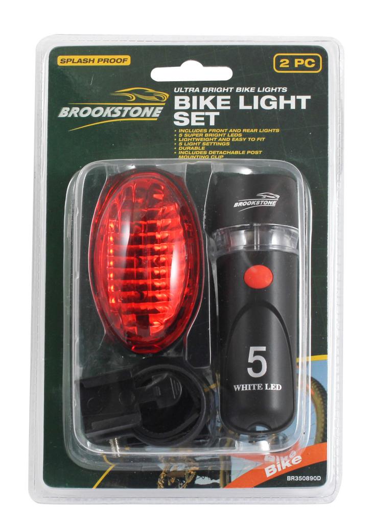 Brookstone Bike Light Set - 2 Piece