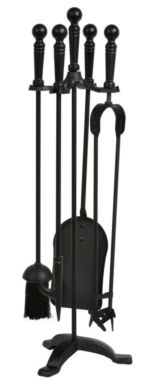 Hearth and Home All Black Companion Set 5 Piece - 25""
